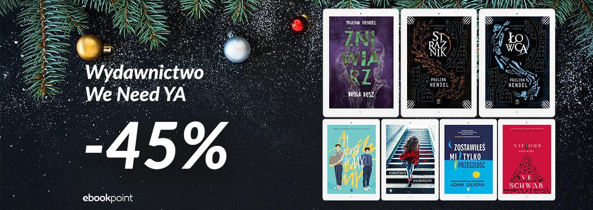 Promocja Promocja na ebooki Wydawnictwo We Need Ya [-45%]